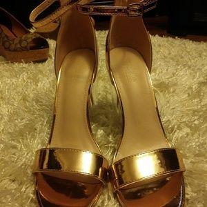 Lucite heel sandals